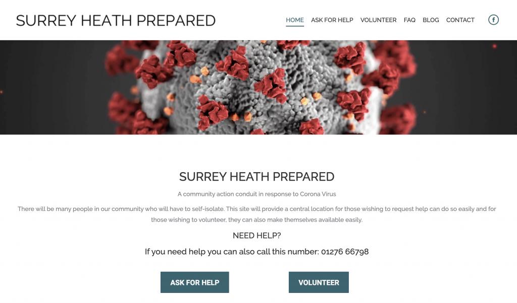 Surrey Heath Prepared website